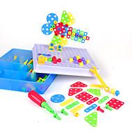 저렴한 -조립식 블럭 건설 완구 스크류 장난감 193 pcs 가족 볼스터 호환 Legoing 전자 DIY 핸드메이드 남학생과 여학생 장난감 선물 / 아동용