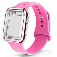 저렴한 -케이스 시계 스트랩 apple watch 5 밴드 44 미리 메터 correa apple 시계 42 미리 메터 38 미리 메터 40 미리 메터 iwatch 4 3 2 실리콘 pulseira 팔찌 시계 줄