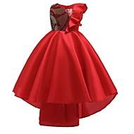 Χαμηλού Κόστους -Γραμμή Α Ασύμμετρο Βαμβάκι Φόρεμα Νεαρών Παρανύμφων με Φιόγκος(οι) / Βολάν