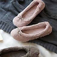 저렴한 -여성용 슬리퍼 플립 플롭 플랫 둥근 발가락 면 봄 핑크 / 그레이