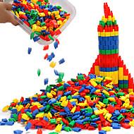저렴한 -조립식 블럭 인터락킹 블럭 불릿 블록 단순한 핸드메이드 부모 - 자녀 상호 작용 가족 플라스틱 쉘 휴태용 보편적 1000 pcs 아동용 남학생과 여학생 장난감 선물