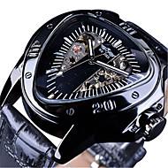 ieftine -WINNER Bărbați ceas mecanic Mecanism automat Stil Oficial Sport Piele Autentică Negru 30 m Rezistent la Apă Gravură scobită Mare Dial Analog Clasic Schelet - Negru Negru / Argintiu Negru+Auriu