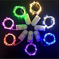 povoljno -70cm Žice sa svjetlima 10 LED diode 1 x 2A mrežni adapter 1pc Crveno / Plavo / Zeleno Valentinovo / Halloween Božićni vjenčani ukrasi 3 V