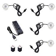 저렴한 -4 개 5 볼트 어항 조명 꽃병 빛 3 W 수중 조명 방수 IP65 / 크리 에이 티브 / 새로운 디자인 RGB / 화이트 / 레드 마당 / 정원 / 적합한 꽃병&앰프; 수족관 1 LED 비즈 USB 미국 EU