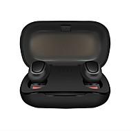 저렴한 -LITBest Y33 TWS True Wireless Headphone 무선 블루투스 5.0 스테레오 듀얼 드라이버 하이파이 충전 박스 포함 방수 IPX4 프리미엄 오디오 용