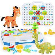 저렴한 -건설 완구 130 pcs 공룡 호환 Legoing 전자 남학생과 여학생 장난감 선물 / 아동용