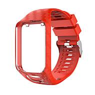 저렴한 -시계 밴드 용 TomTom Adventurer / TomTom Golfer 2 / TomTom Spark 3 TomTom 모던 버클 실리콘 손목 스트랩