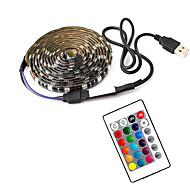 povoljno -1m tv pozadinsko svjetlo fleksibilne LED svjetlosne trake / rgb svjetla trake 30 leda smd5050 10 mm 1 daljinski upravljač 1 taster 1 set višebojni vodootporni / usb / samoljepljivi 5 v