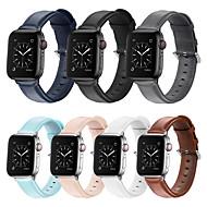 저렴한 -시계 밴드 용 애플 워치 시리즈 5/4/3/2/1 Apple 비즈니스 밴드 천연 가죽 손목 스트랩