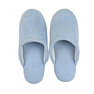 저렴한 -여성용 슬리퍼 플립 플롭 플랫 둥근 발가락 캔버스 봄 핑크 / 그린 / 블루