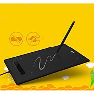 """Χαμηλού Κόστους -Νέο USB Pen Tablet Graphics Pad Pen Σχέδιο Art Design Μεγάλη επιφάνεια 8.0 """"x6.0"""" UGEE-M860 (Μαύρο)"""