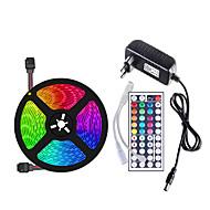 povoljno -5m Savitljive LED trake / Setovi svjetala / RGB svjetleće trake 150 LED diode SMD5050 10mm 1 44Ključuje daljinski upravljač / 1 X 12V 3A napajanje 1set Više boja Vodootporno / Cuttable / Ukrasno 12 V