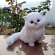 저렴한 -16*13*17 고양이 봉제 인형 봉제 장난감 봉제인형&플러쉬 애니멀 귀여운 홀딱 반할 만한 러블리 폴리에스터 / 면 혼합 모두 장난감 선물 1 pcs / 아동용