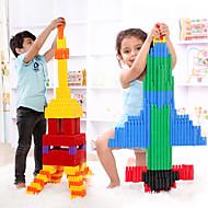 저렴한 -조립식 블럭 인터락킹 블럭 불릿 블록 단순한 핸드메이드 부모 - 자녀 상호 작용 가족 ABS 모델 휴태용 보편적 132 pcs 아동용 남학생과 여학생 장난감 선물