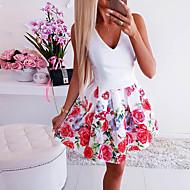 billige -Dame Skjede Kjole - Blomstret Mini