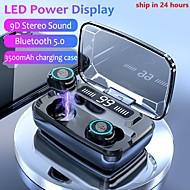 저렴한 -LITBest M11-TWS TWS True Wireless Headphone 무선 블루투스 5.0 스테레오 마이크 포함 충전 박스 포함 방수 IPX4 땀을 흘리지 않는 모바일폰