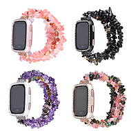 저렴한 -시계 밴드 용 Fitbit Versa fitbit와 반대로 2 쥬얼리 디자인 세라믹 손목 스트랩
