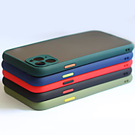 저렴한 -전화 케이스 아이폰 11 프로 최대 / 11pro / 11 고급 대비 컬러 프레임 매트 하드 PC 보호 아이폰 XS 최대 / XR / Xs / 8 플러스 / 7 플러스 / 8 / 7 케이스