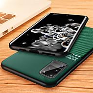 economico -Custodia Per Samsung Galaxy S20 Plus / S20 Ultra / S20 Decorazioni in rilievo Per retro Tinta unita pelle sintetica / TPU