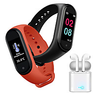 cheap -JSBP M4 Women Smart Bracelet Termometer Smartwatch BT Fitness Equipment Monitor Waterproof with TWS Bluetooth HeadsetTake Body Temperature for Android Samsung/Huawei/Xiaomi iOS Mobile Phone