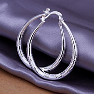 cheap -Women's Hoop Earrings Ball Earrings Classic Luxury Classic Earrings Jewelry Silver For Party Evening Gift Formal Date 1 Pair