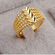 cheap -Men Women Ring 1pc Gold Brass Round Stylish Gift Festival Jewelry Hollow Out Flower