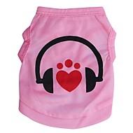 ieftine -Pisici Câine Tricou Inimă Literă & Număr Îmbrăcăminte Câini Roz Costume Terilenă XS S M L