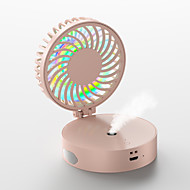 cheap -Portable Folding Spray Fan USB Rechargeable Mini Multi-function Desktop Hanging Neck Pocket Small Fan For Office Outdoor Travel