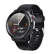 cheap -L15 Smart Watch Men LED Light Full-fit Round Retina Display Music Control Camera Flashlight Smartwatch IP68 Waterproof