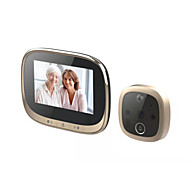 cheap -4.3 inch HD smart cat's eye video camera doorbell camera with built-in battery night vision motion detection