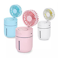 cheap -Creative T9 Fan Humidifier Mini Car Mounted Office Air Cleaner USB Charging Fan Night Light Humidification