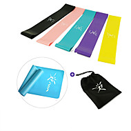 cheap -Resistance Loop Exercise Bands Resistance Bands for Legs and Butt 5 pcs Resistance Bands Sports Emulsion Home Workout Yoga Pilates Portable Durable Lift, Tighten And Reshape The Plump Buttock Shaper