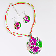 cheap -Women's Jewelry Set Classic Flower Stylish Earrings Jewelry Rainbow For Anniversary Gift Festival 1 set