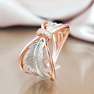 cheap -Women's Ring Belle Ring AAA Cubic Zirconia 1pc Rose Gold Copper Rose Gold Plated Silver-Plated Irregular Statement Luxury Party Evening Gift Jewelry Geometrical Wearable