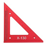cheap -Aluminum Alloy Metric Woodworking Triangle Ruler Carpenters Square Hole Positioning Measuring Ruler