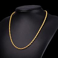 ieftine -Bărbați Lănțișoare Colier lung, Funie Foxtail lanț Mariner Chain Modă Hip Hop Teak Negru Auriu Argintiu 55 cm Coliere Bijuterii 1 buc Pentru Petrecere Cadou Casual Stradă