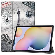 cheap -Case For Huawei Huawei MediaPad M5 10 Flip Pattern Full Body Cases sky Eiffel Tower TPU PC