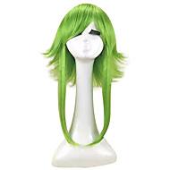 お買い得  -Vocaloid グミ コスプレウィッグ 女性用 レイヤード・ヘアカット 14 インチ 耐熱繊維 ストレート グリーン 青少年 成人 アニメウィッグ / かつら