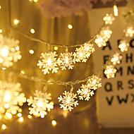 economico -5m 50led fiocco di neve ha condotto le luci della stringa luci alimentate a batteria fata luce soggiorno albero di natale all'aperto decorazione di nozze di halloween luce senza batteria