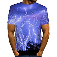povoljno -Muškarci Sažetak Grafika Plava Print Majica s rukavima Osnovni pretjeran Dnevno Plava