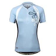 お買い得  -女性用 半袖 サイクリングジャージー ブルー バイク ジャージー マウンテンサイクリング ロードバイク 速乾性 スポーツ 衣類 / 伸縮性あり