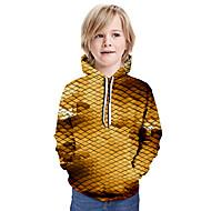 cheap -Kids Boys' Basic Color Block Long Sleeve Hoodie & Sweatshirt Yellow