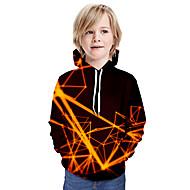 cheap -Kids Boys' Basic Tie Dye Long Sleeve Hoodie & Sweatshirt Wine