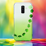 cheap -Case For Samsung Galaxy Galaxy J4 Plus(2018) Galaxy J6 Plus(2018) Samsung Galaxy A70(2019) Rhinestone Back Cover Color Gradient TPU