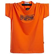 お買い得  -男性用 Tシャツ グラフィック トップの ブラック オレンジ グリーン
