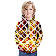cheap -Kids Boys' Basic Tie Dye Long Sleeve Hoodie & Sweatshirt White