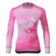 お買い得  -女性用 長袖 サイクリングジャージー ピンク バイク ジャージー マウンテンサイクリング ロードバイク 速乾性 スポーツ 衣類 / 伸縮性あり