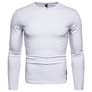 お買い得  -男性用 Tシャツ ソリッド トップの ホワイト ブラック ルビーレッド