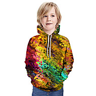 cheap -Kids Boys' Basic Tie Dye Long Sleeve Hoodie & Sweatshirt Yellow