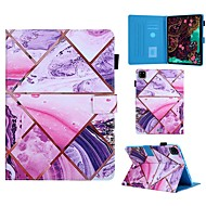 cheap -Case For Apple iPad 10.2 Air 10.5 2019 iPad Pro 11 2020 Mini 12345 2017 2018 9.7 Card Holder with Stand Pattern Full Body Cases Marble PU Leather